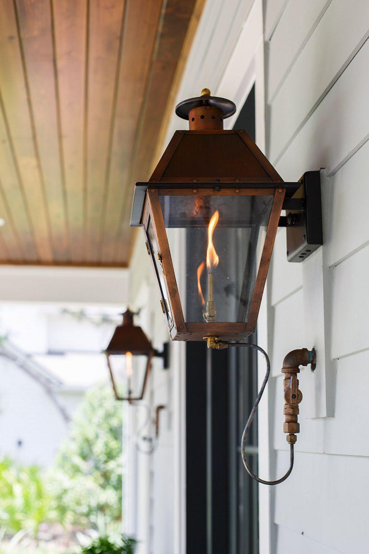Fascinating Vintage Hanging Gas Lanterns For Front Door Decor In