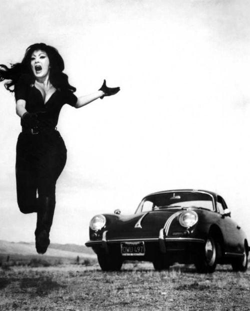 """Tura Satana (1938 - 2011) as """"Varla"""" in Russ Meyer's 1965 cult film, 'Faster, Pussycat! Kill! Kill!'. ☀"""