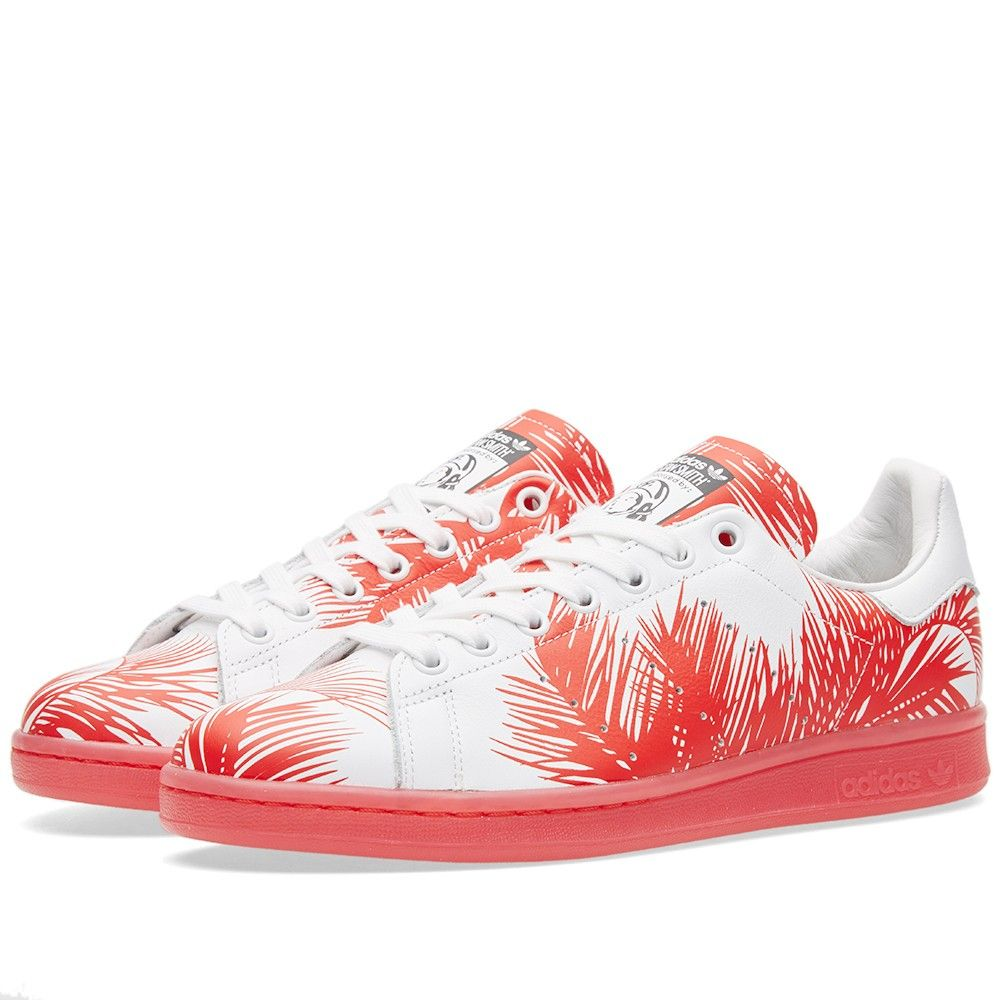 Adidas x Pharrell Williams x BBC Palm Tree Stan Smith (Core Black, Red \u0026