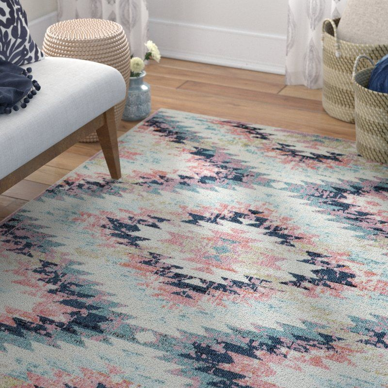 Nichole Geometric Multicolor Area Rug With Images Girls Room