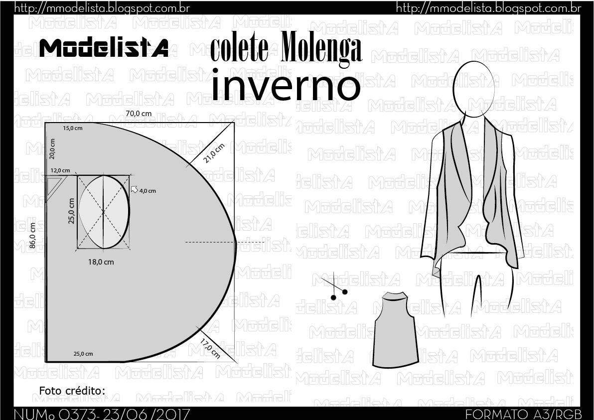 a373-04.jpg (1192×843)   洋裁   Pinterest   Molde, Costura y Patrones