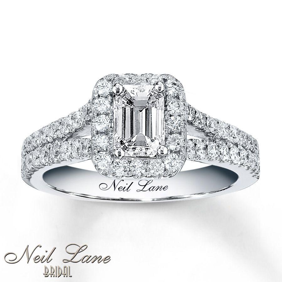Neil lane bridal 1 38 ct tw diamonds 14k white gold ring