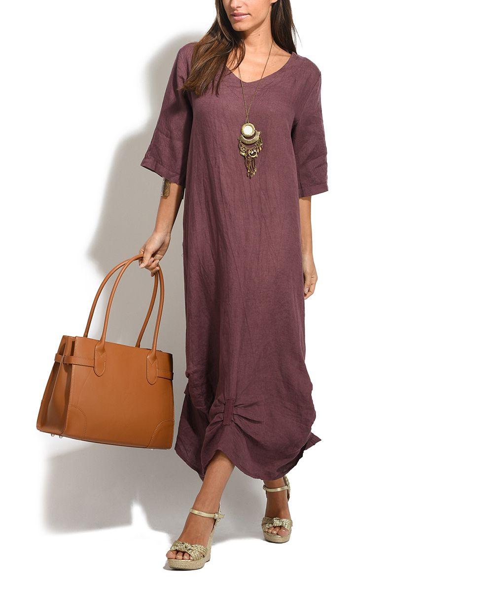 Dark purple chelsea linen dress dresses purple and chelsea