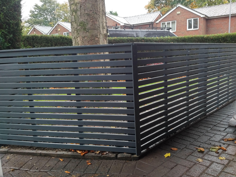 Grey Fence Panels Home Safe