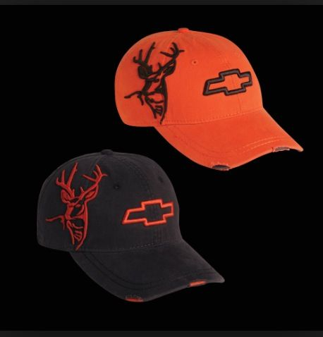 newest 08064 93316 Black and orange chevy hats!