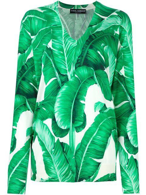 8210f3b4 DOLCE & GABBANA Banana Leaf Print Jumper. #dolcegabbana #cloth #jumper