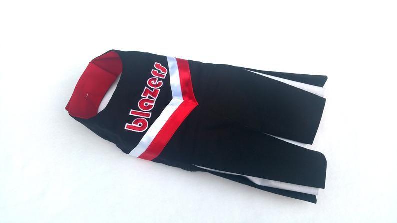 Blazers dog dress cheer dog custom cheerleader dress