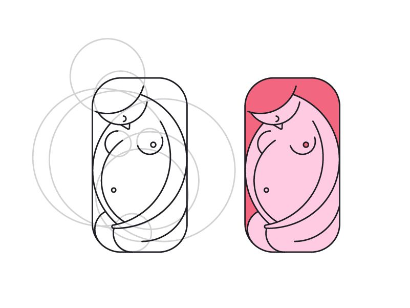 some variations of illustrations about love, compatibility and beauty