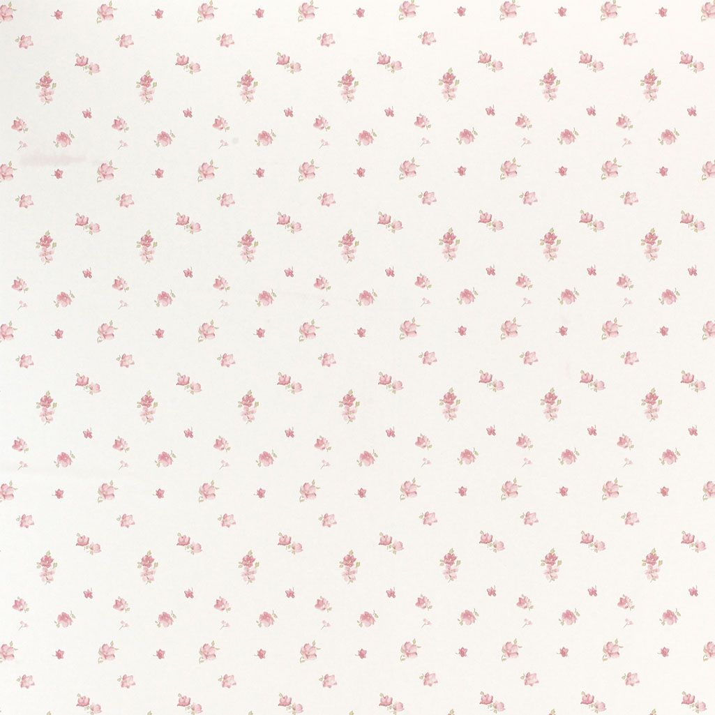 Laura Ashley Abbeville Floral Wallpaper Pink Natural De