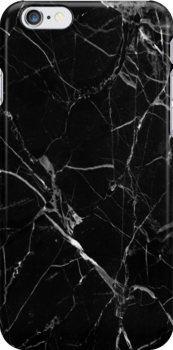'Black Marble' iPhone Case by emmakanch