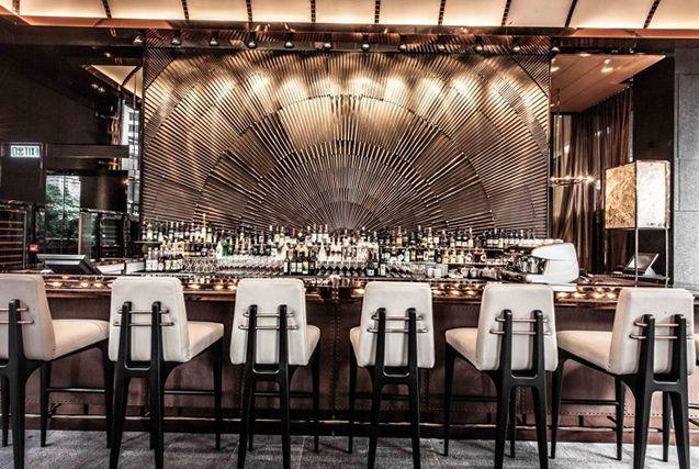 Ammo Restaurant And Bar In Hong Kong Bar Interior Design Bar Design Restaurant Bar Interior