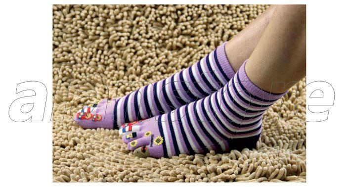 Five-Toe Socks, Medium Length, Cute and Fashionable Toe Socks