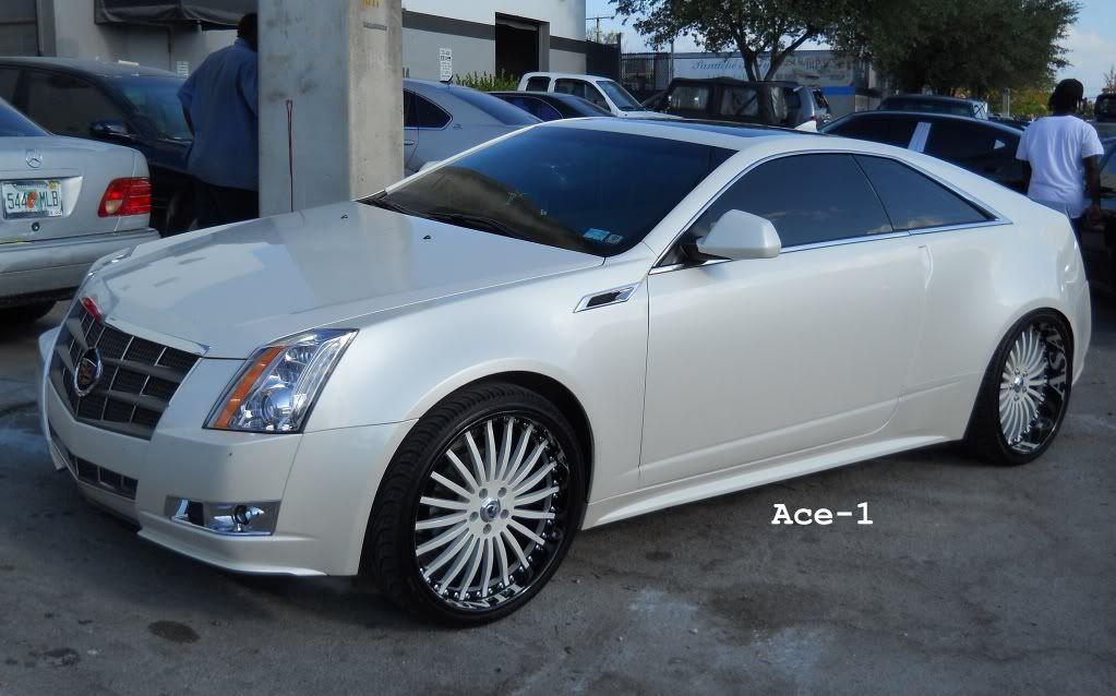 Used Cadillac Srx 22 Wheels 2011 Cadillac Cts Coupe On 22 Asanti