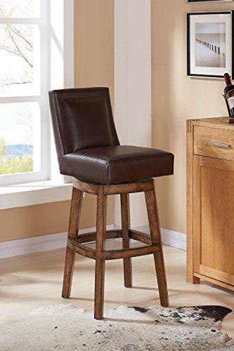 Superb Armen Living Wayne Bar Height Swivel Wood Barstool 30 Pabps2019 Chair Design Images Pabps2019Com