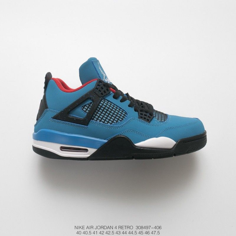 701b382bc7455 Fsr Mens Nike Air Jordan 4 X Travis Scott Aj4 Blue Suede in 2019 ...