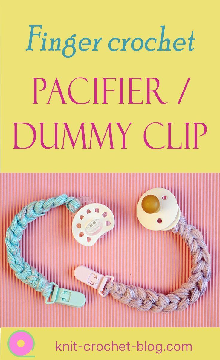 DIY baby pacifier clip