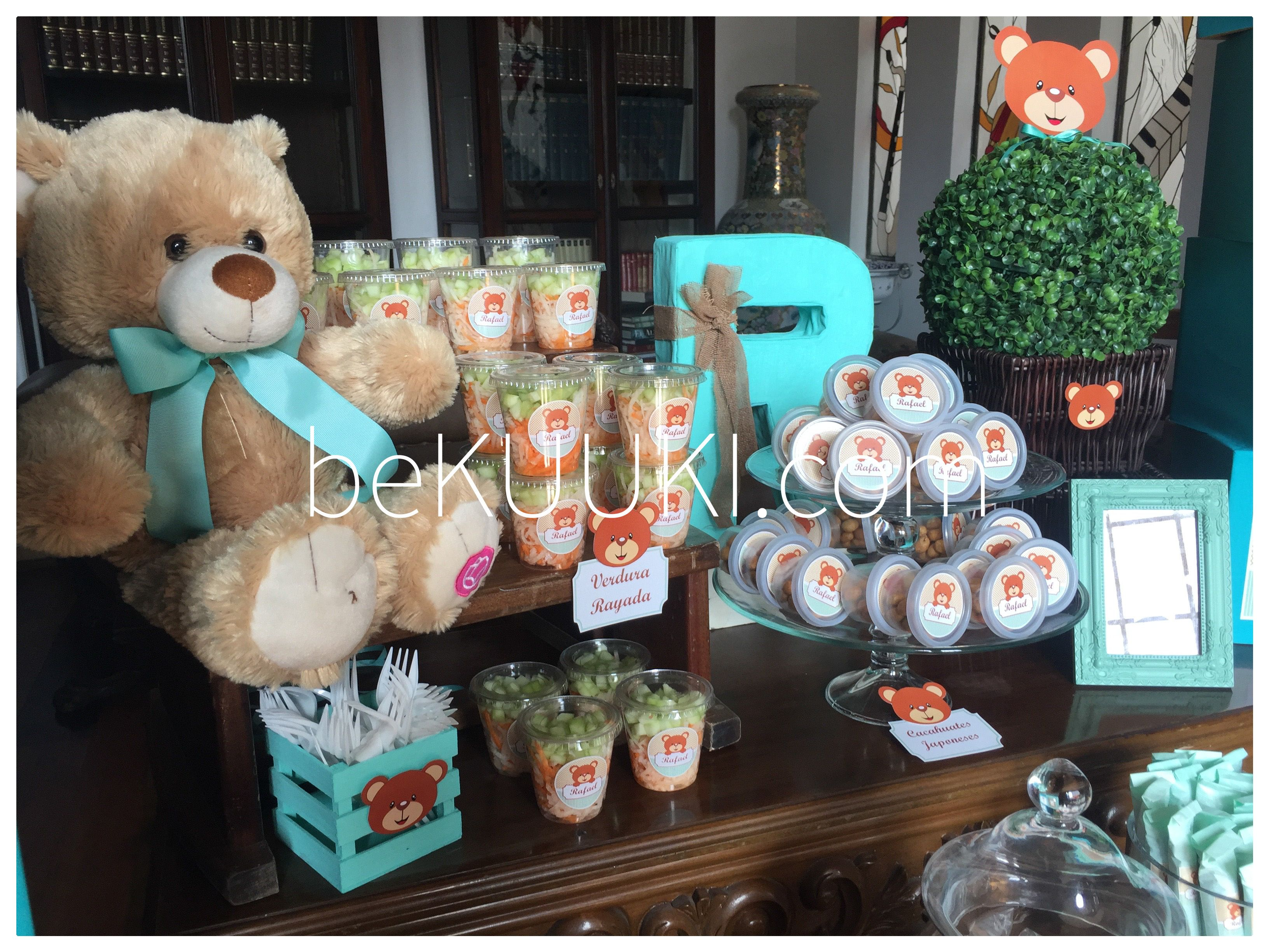 Mesa de dulces candy bar baby shower ni o oso for Mesa de dulces para baby shower nino