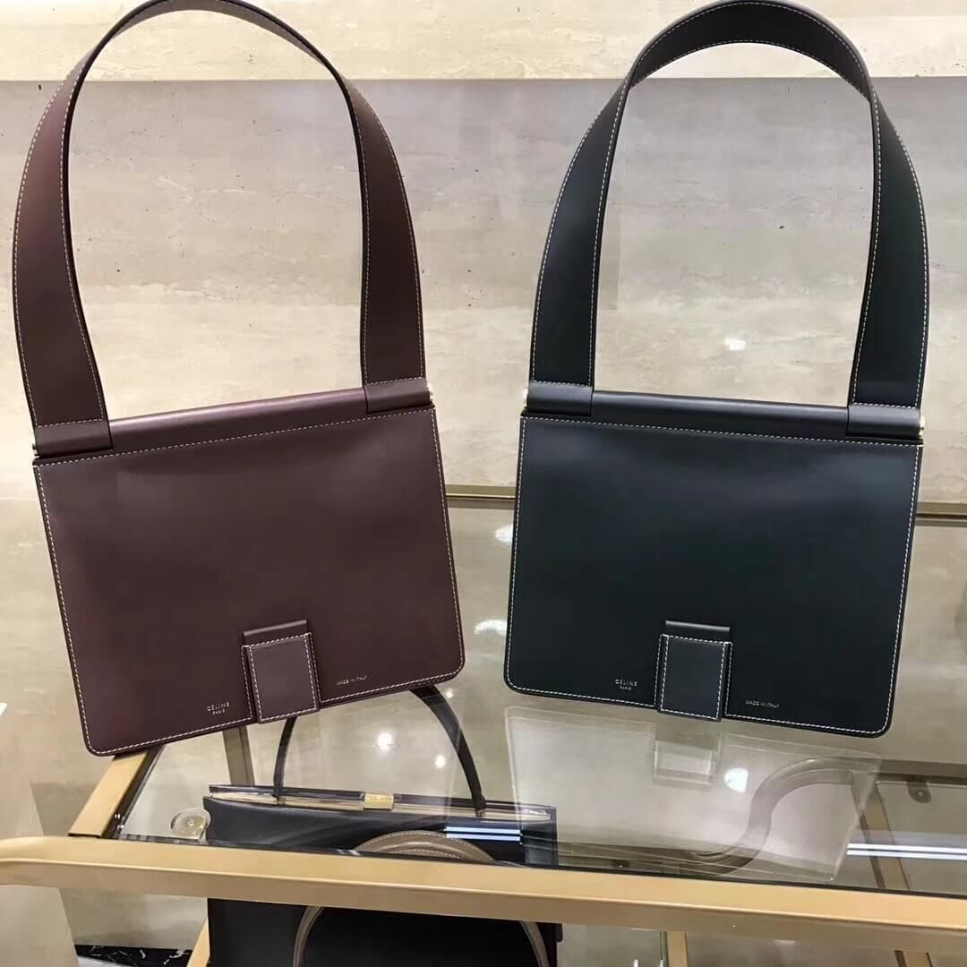 bf665c70b47 Celine Small Tab Bag in Satinated Natural Calfskin Burgundy 2018 ...