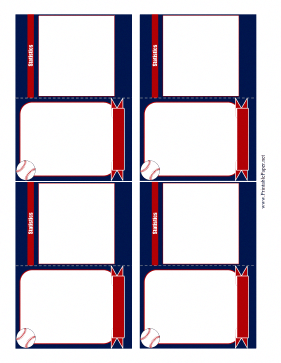 Decorated With Red White Blue And Baseballs These Baseball Card Templates Allow Kids To Enter The Baseball Card Template Baseball Cards Baseball Card Boxes