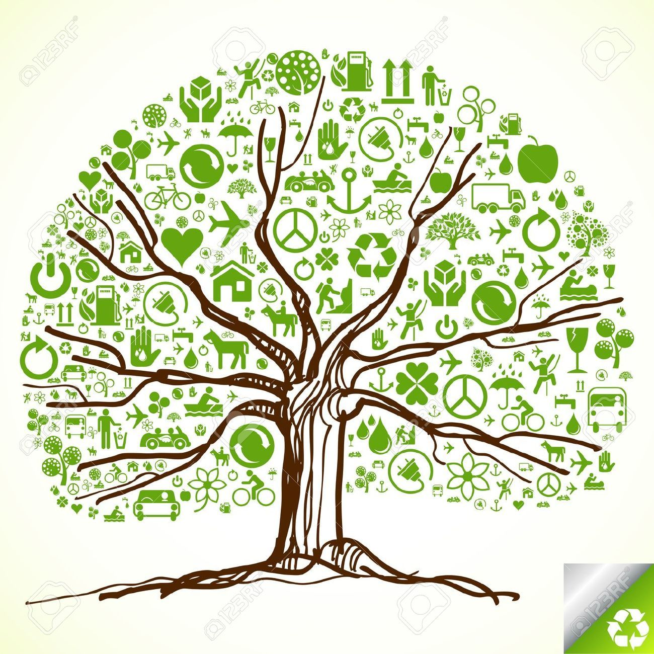 10339399-Animated-ecology-tree-made-of-ecological-icons-Stock-Vector ...