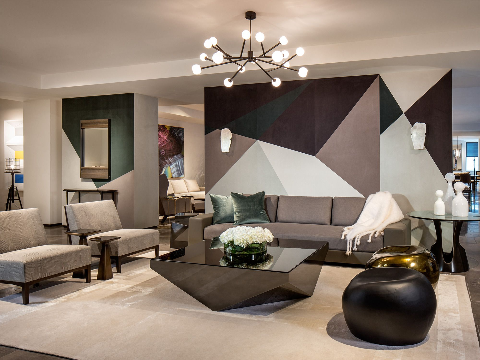 Holly Hunt Living Room Lounge Luxe Furniture Interior Design Styles