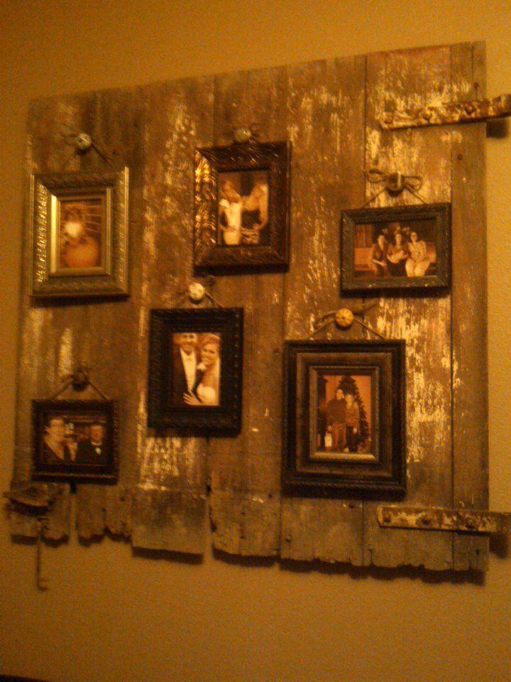 Old barn door wall art   wall ideas   Pinterest