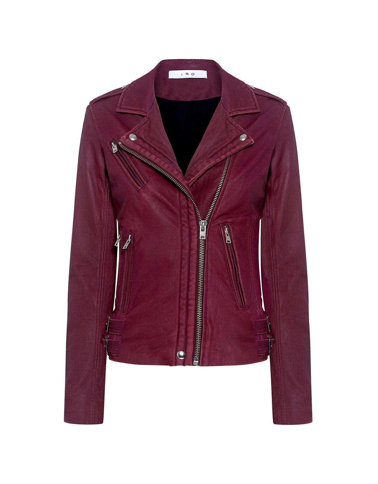 Iro Han Lambskin Leather Biker Jacket Jackets Biker Jackets Ifchic Com Clothes Lamb Leather Jacket Biker Jacket [ 1600 x 1250 Pixel ]