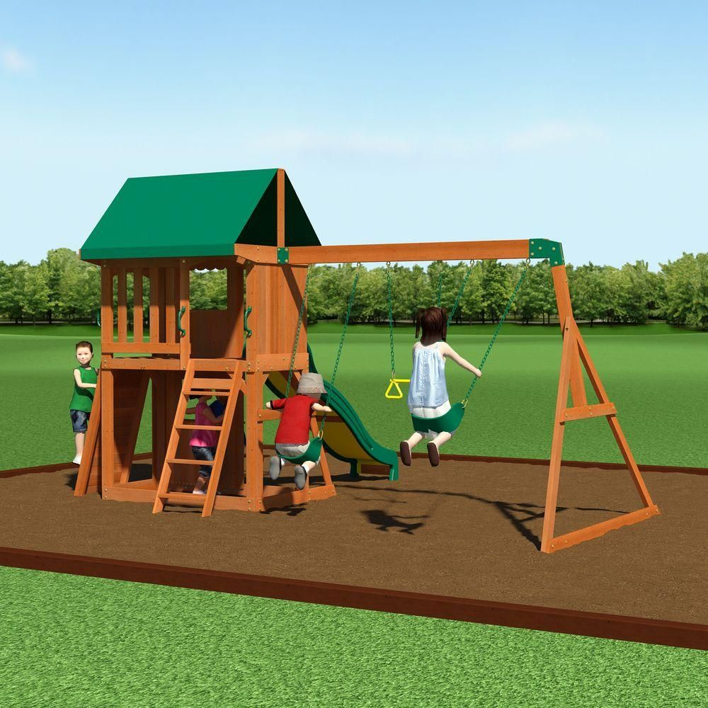 Charmant Backyard Discovery Somerset All Cedar Playset, Browns/Tans. Wooden Swing  SetsWooden ...