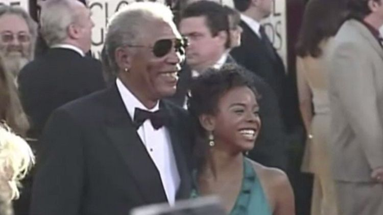 Morgan Freeman with Edena Hines