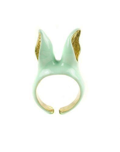 Bunny Band Green Ring