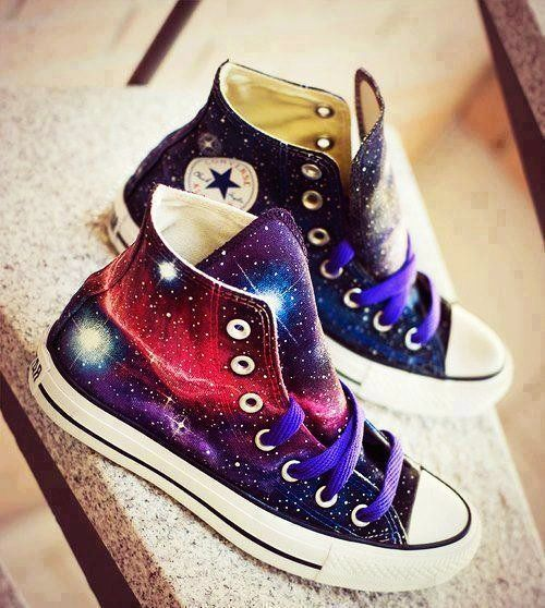 29a3730852f0 Hand painted Converse Galaxy Converse Custom Galaxy Shoes