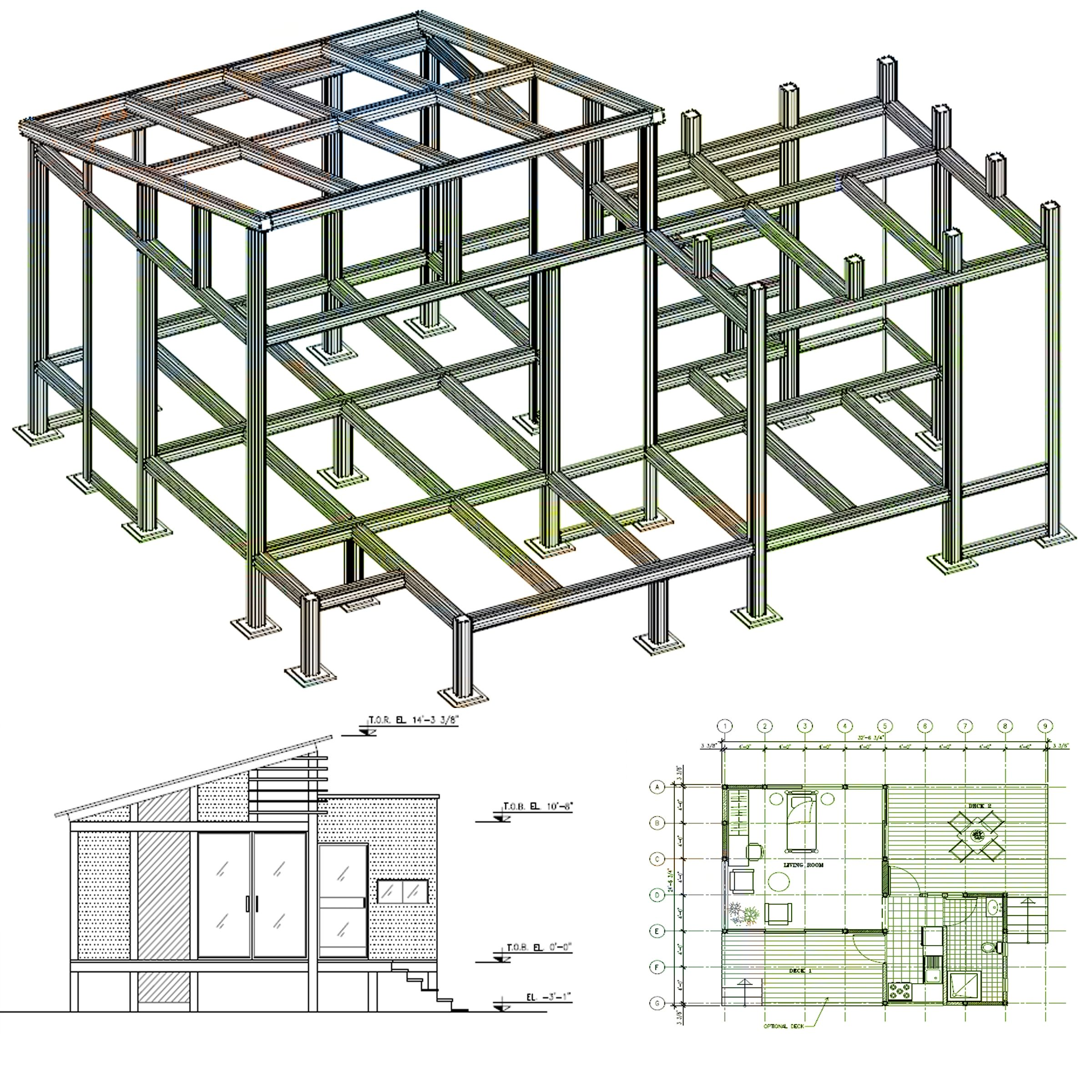 MHS Structural Aluminum Framing (post and beam construction) | MHS ...