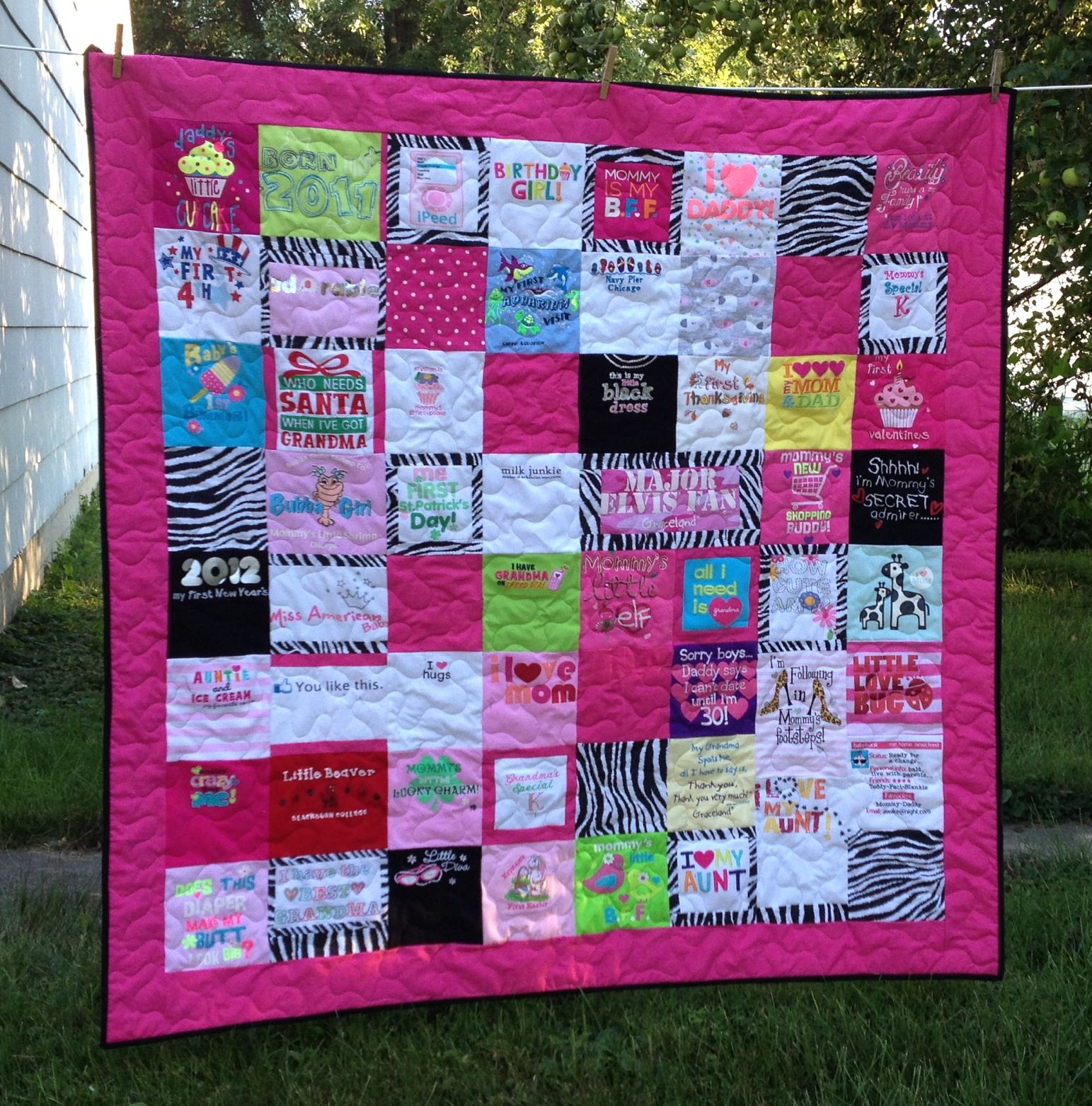 Custom Quilt Made From Your Baby Clothes Www