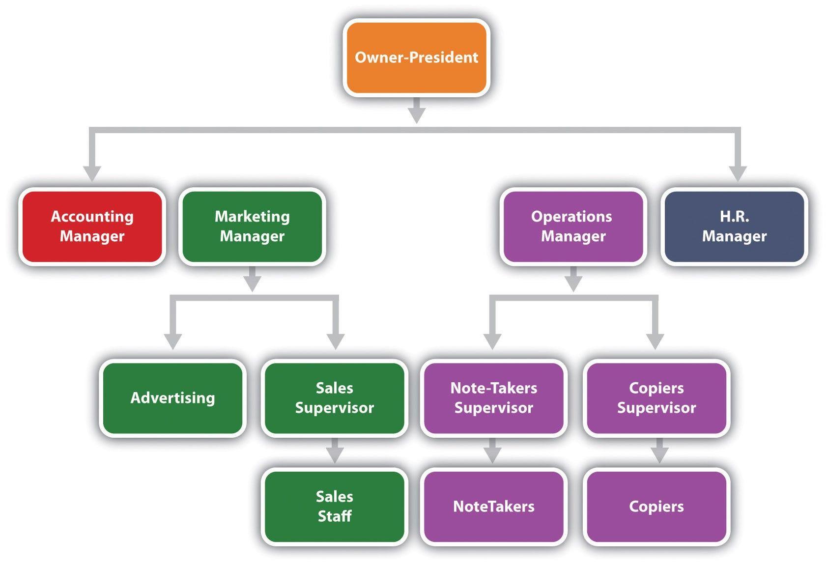 Unique organizational Structure Sample P's of marketing