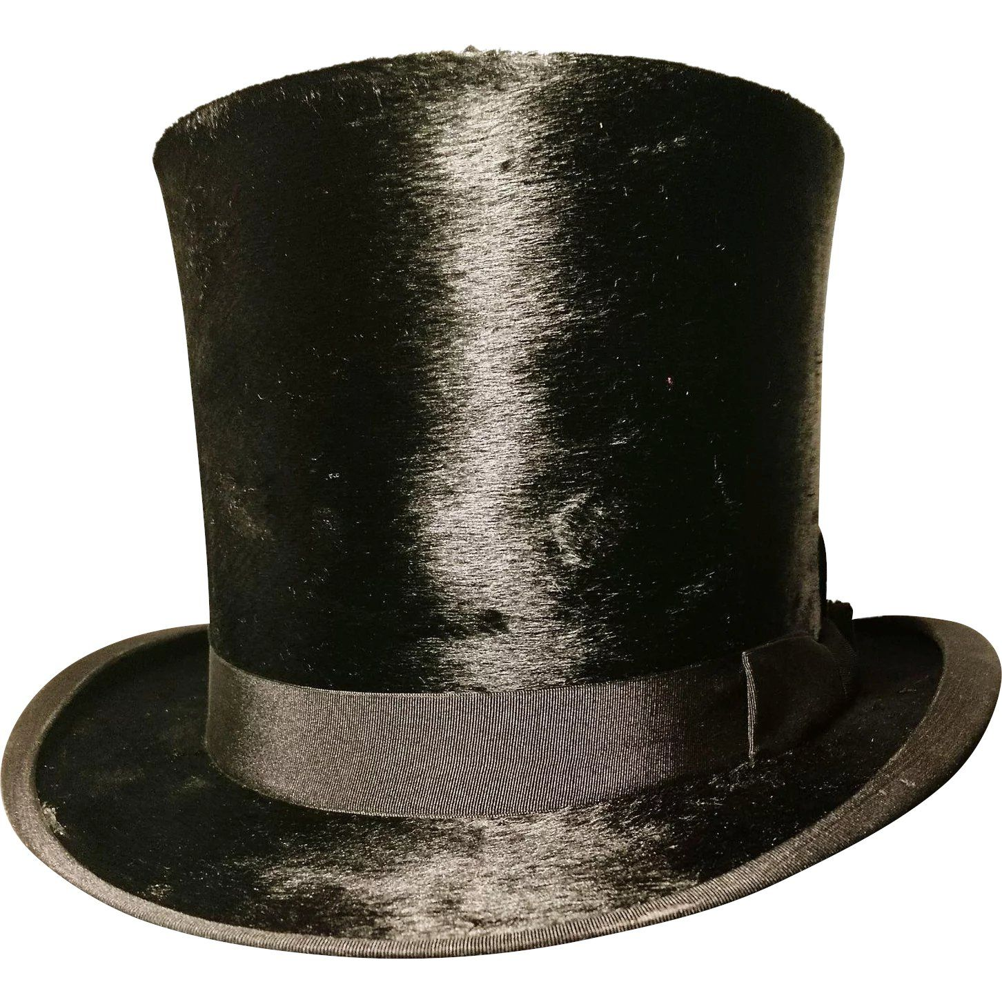 Victorian Silk Top Hat With A Fitted Leather Hat Box J Wippell And Co Leather Hats Top Hat Victorian