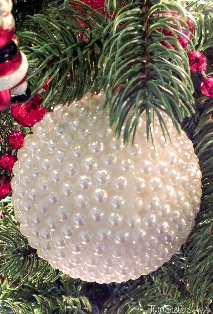 These DIY Pearl Christmas Ornaments are a fun craft that results in