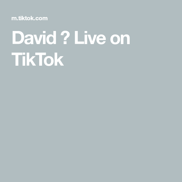 David Live On Tiktok Live David Life Moments