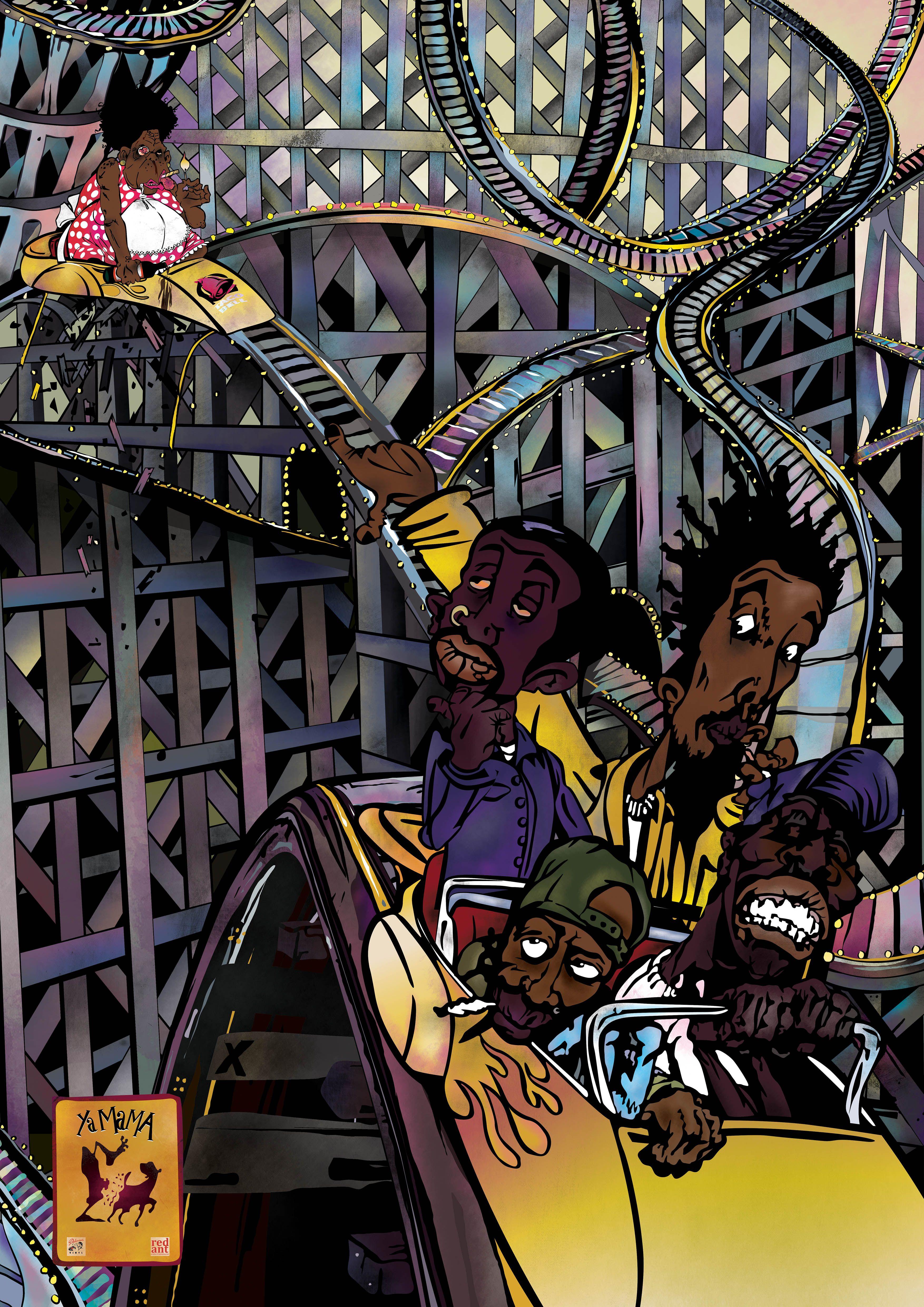 The Pharcyde Ya Mama 1993 Print By Shades Of Blue Prints I