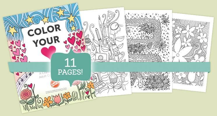 Color Your Heart Out! The Craftsy Adult Coloring Book