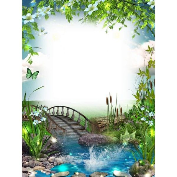 Transparent Photo Frame With Bridge And River Liked On Polyvore Featuring Home Home Decor Frames A Photo Frame Studio Background Images