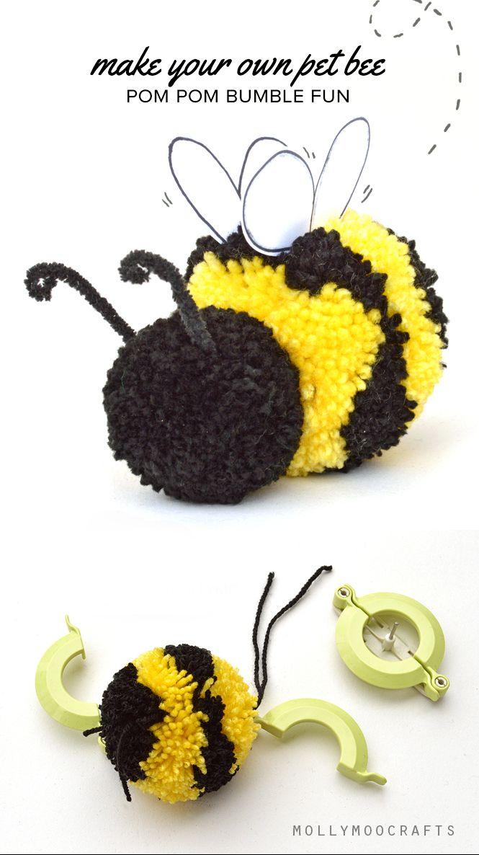 cute pom pom craft how to make a pom pom bee bumble bees bees