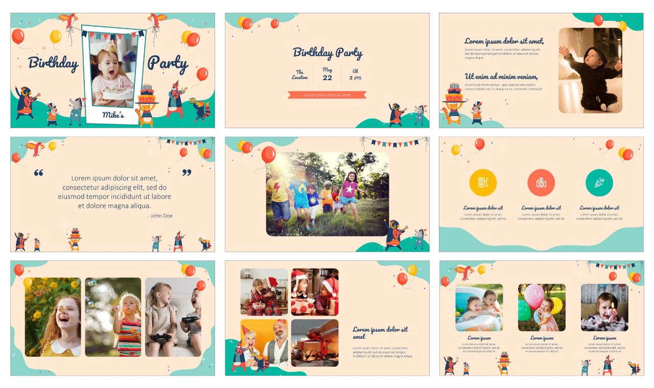 Birthday Card Free Google Slides Theme Powerpoint Template Google Slides Themes Powerpoint Design Templates Powerpoint Templates