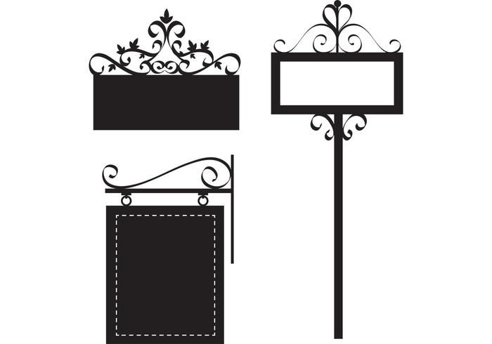 Image Gallery Of Vintage Street Sign Template Classy Decorations Ornate Ornamental Vector