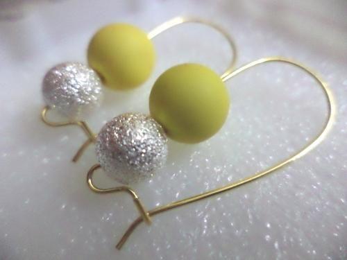 Yellow Silver Star Dust Earrings at https://www.facebook.com/handmadebypriyanka, Pune