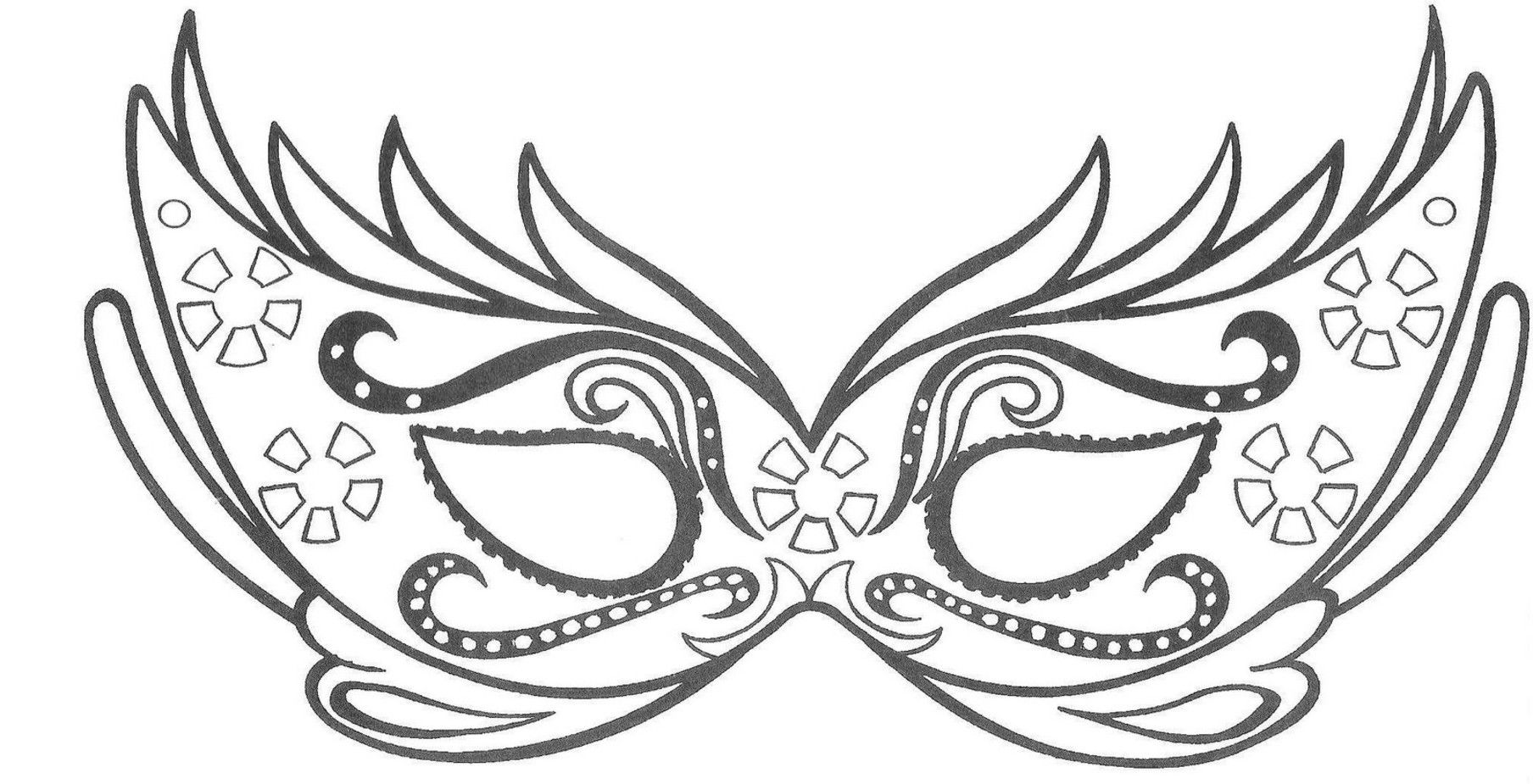 Uncategorized Printable Carnival Masks maschera face painting pinterest free printable origami and stenciling