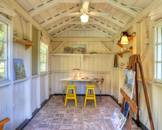Ufficio Fai Da Te Hallet : An art studio she shed by la salvage chic sheds