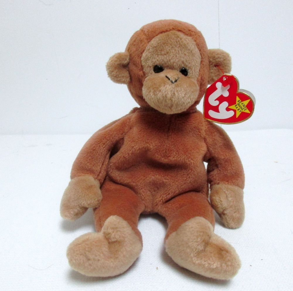 84328e467fc Ty Original Beanie Baby Bongo The Monkey Beanbag Plush Stuffed Animal Toy   TyOriginalBeanieBaby