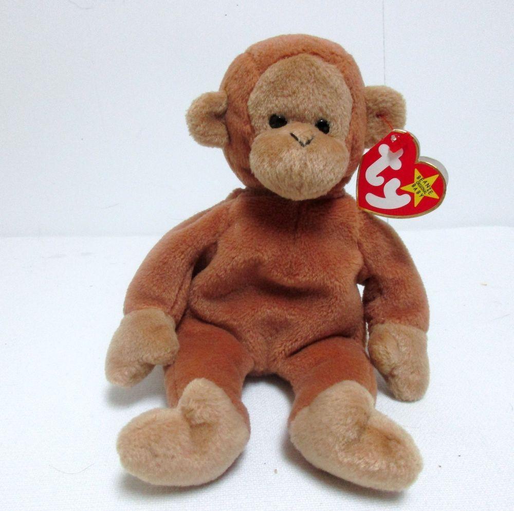 Ty Original Beanie Baby Bongo The Monkey Beanbag Plush
