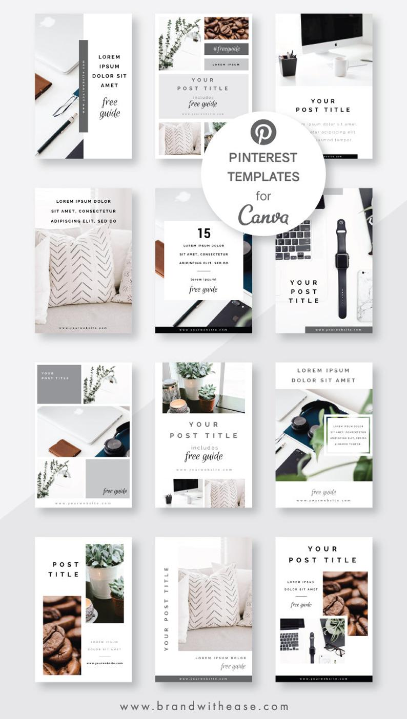 Pinterest Templates Canva Templates Pin Templates Social Media Templates Pinterest Marketing Blog Templates Charcoal Pin Pack Templates Instagram Post Template Social Media Template