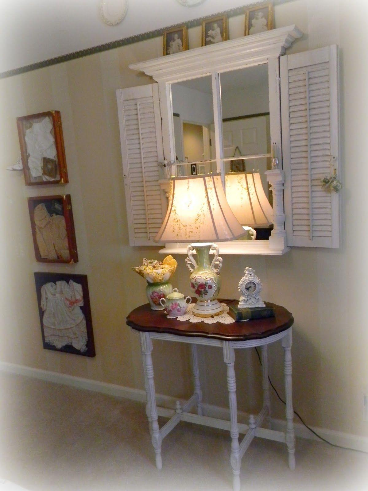 Mirror And Shutter Idea Shutter Decor Decor Home